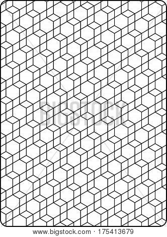 seamless repeating pattern of hexagons and parallelograms.