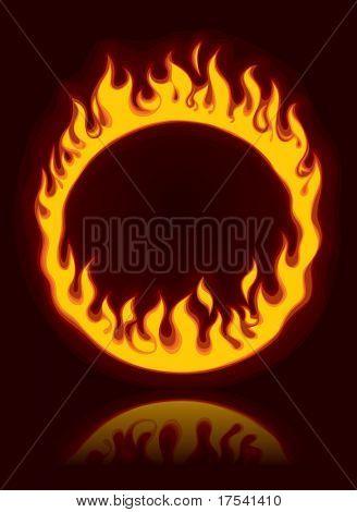 Vector fiery ring