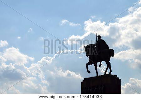 Statue of king Tomislav in Zagreb Croatia