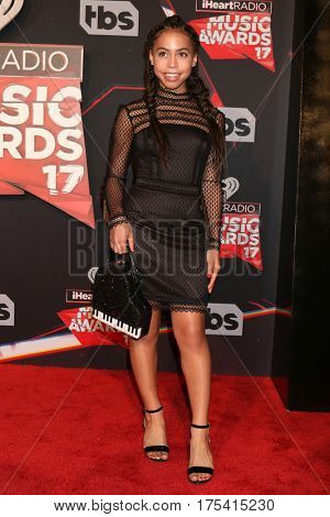 LOS ANGELES - MAR 5:  Asia Monet Ray at the 2017 iHeart Music Awards at Forum on March 5, 2017 in Los Angeles, CA