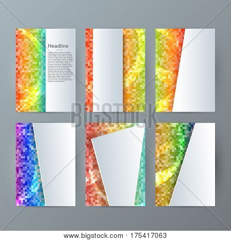 Set Templates Vertical Brochure Mockup Mosaic Glow Effect05