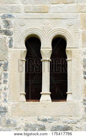 Romanesque church of San Salvador de Valdedios, Villaviciosa, Asturias, Spain