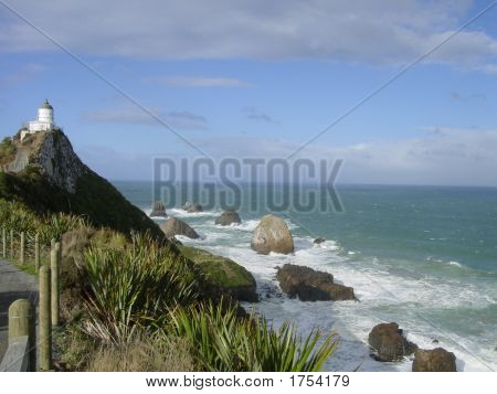 Lighthouse Of Nugget Point