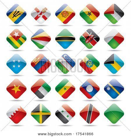 Vector set world flag icons 5