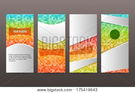 Set Templates Vertical Flyer Layout Glow Effect02