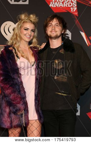 LOS ANGELES - MAR 5:  Rydel Lynch, Ellington Ratliff at the 2017 iHeart Music Awards at Forum on March 5, 2017 in Los Angeles, CA