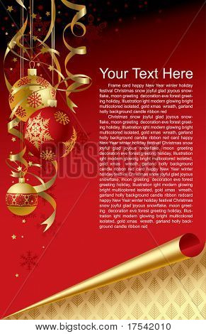 Vector Christmas & New-Year's greeting card