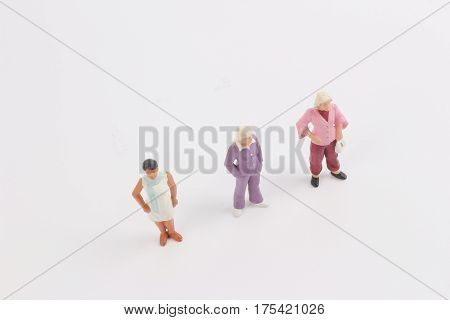 Toys Of Mini People Of Women