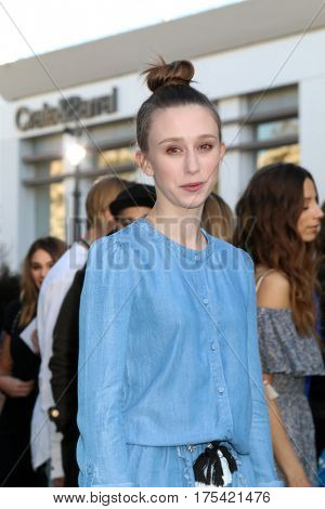 LOS ANGELES - FEB 4:  Taissa Farmiga at the Rebecca Minkoff's