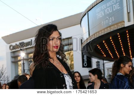 LOS ANGELES - FEB 4:  Camila Alves McConaughey at the Rebecca Minkoff's