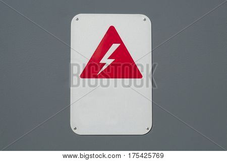 caution sign high tension electric voltage risk of shock