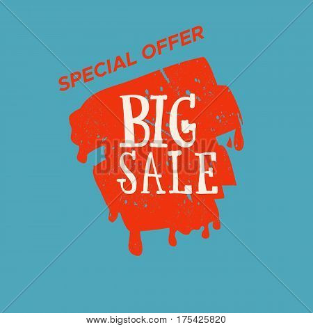 Grunge color design big sale stickers. Catching signage. Vector illustrations for online shopping product promotions website and mobile website badges ads print material.
