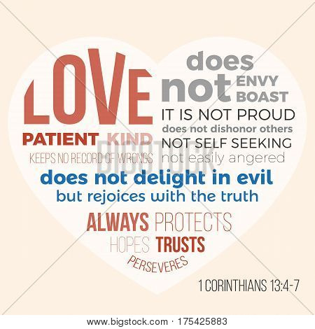 Bible verse for evangelist, 1 corinthians 13 4-7 love is patient