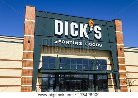 Muncie - Circa March 2017: Dick's Sporting Goods Retail Location. Dick's is an Authentic Full-Line Sporting Goods Retailer IV