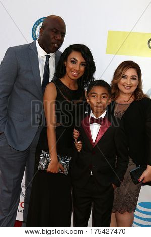 LOS ANGELES - FEB 11:  Dad, sister, Miles Brown, mom at the 48th NAACP Image Awards Arrivals at Pasadena Conference Center on February 11, 2017 in Pasadena, CA