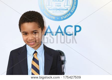 LOS ANGELES - FEB 11:  Ethan Hutchison at the 48th NAACP Image Awards Arrivals at Pasadena Conference Center on February 11, 2017 in Pasadena, CA