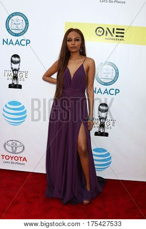 LOS ANGELES - FEB 11:  Sierra McClain at the 48th NAACP Image Awards Arrivals at Pasadena Conference Center on February 11, 2017 in Pasadena, CA