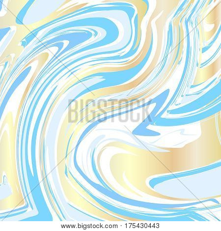 Handmade craft liquid texture. Watercolor paint abstract background vector illustration. Artwork aquatic effect watercolor pattern