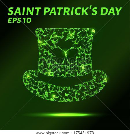 The Hat Consists Of Points, Lines And Triangles. The Polygon Shape In The Form Of A Hat Of Saint Pat