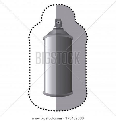 sticker gray aerosol spray metal 3D bottle can vector illustration