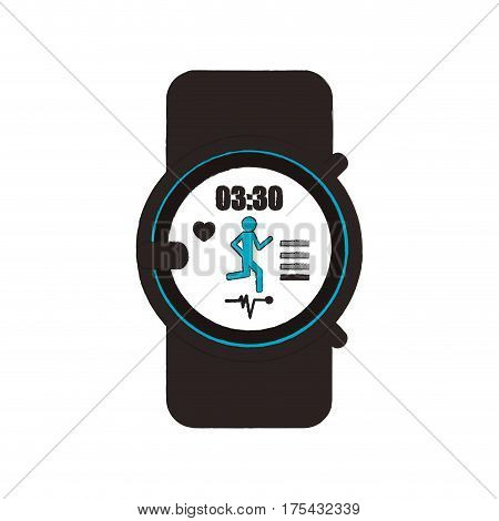 sport watch icon over white background. vector illustration