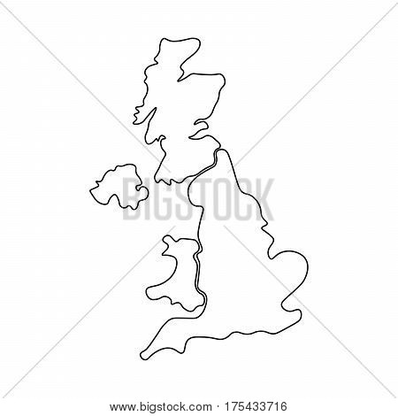 Blank Map Of England Scotland And Wales.United Kingdom Aka Vector Photo Free Trial Bigstock