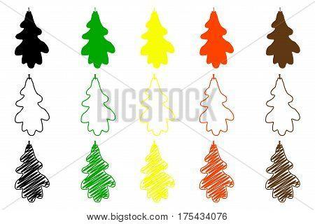 oak leaf - color set , oak leaf