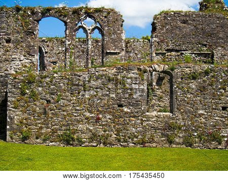 Walls Of Ruins At Bridgetown Priory In Cork County Ireland