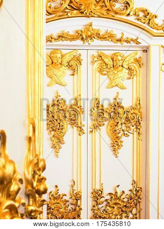 Ornate Gilded Door