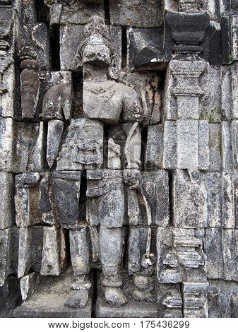 Carvings At The Ruins Of An Ancient Temple In Indonesia