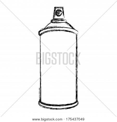 sketch silhouette aerosol spray bottle container vector illustration