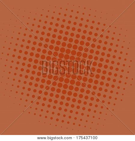 Pop Art Brown Dots Comic Background Vector Template Design