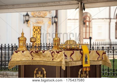 In the Assumption Cathedral of the Kiev-Pechersk Lavra