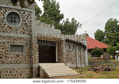 Monastery at Bahir Dar on the Tana Lake in Ethiopia