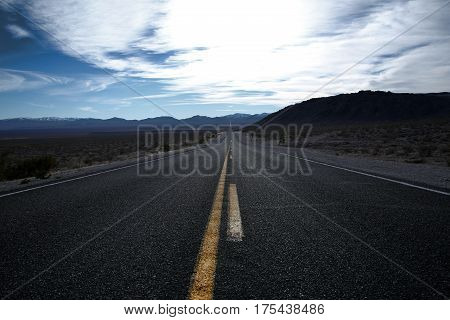 Straight Road Through Death Valley.