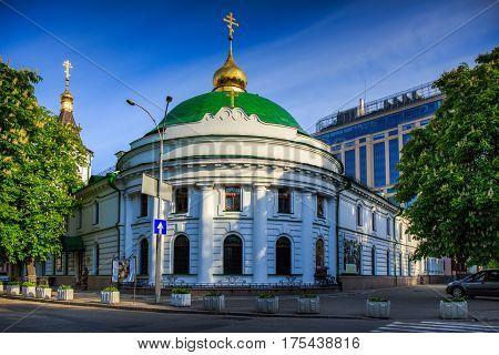 Kiev Vvedensky Monastery. church. orthodox. architecture. religious.