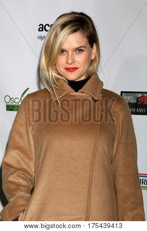 LOS ANGELES - FEB 23:  Alice Eve at the 12th Annual Oscar Wilde Awards at Bad Robot Studios on February 23, 2017 in Santa Monica, CA