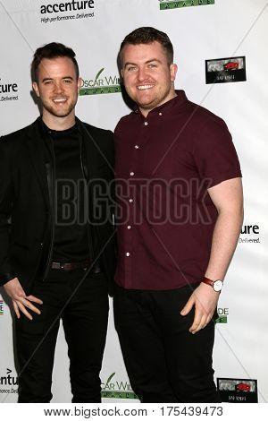 LOS ANGELES - FEB 23:  Glenn Murphy, Rowan Scolard at the 12th Annual Oscar Wilde Awards at Bad Robot Studios on February 23, 2017 in Santa Monica, CA