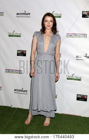 LOS ANGELES - FEB 23:  Sarah Bolger at the 12th Annual Oscar Wilde Awards at Bad Robot Studios on February 23, 2017 in Santa Monica, CA