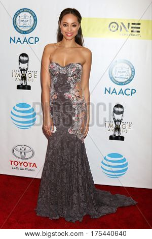 LOS ANGELES - FEB 11:  Amber Stevens West at the 48th NAACP Image Awards Arrivals at Pasadena Conference Center on February 11, 2017 in Pasadena, CA