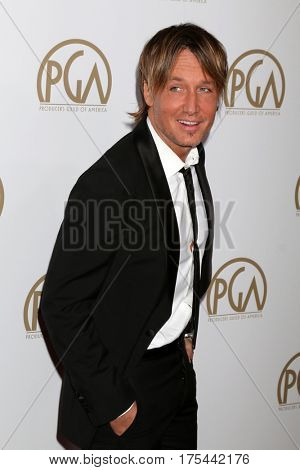 LOS ANGELES - JAN 28:  Keith Urban at the 2017 Producers Guild Awards  at Beverly Hilton Hotel on January 28, 2017 in Beverly Hills, CA