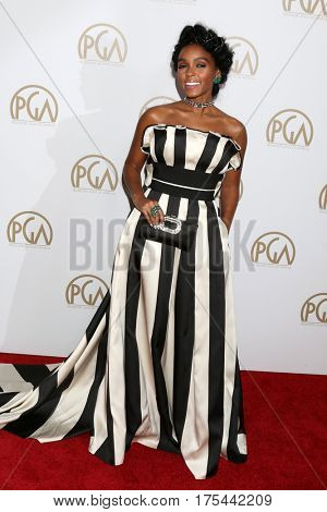 LOS ANGELES - JAN 28:  Janelle Monae at the 2017 Producers Guild Awards  at Beverly Hilton Hotel on January 28, 2017 in Beverly Hills, CA