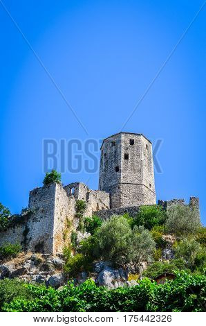 Fortress in old town Pocitelj - Bosnia and Herzegovina