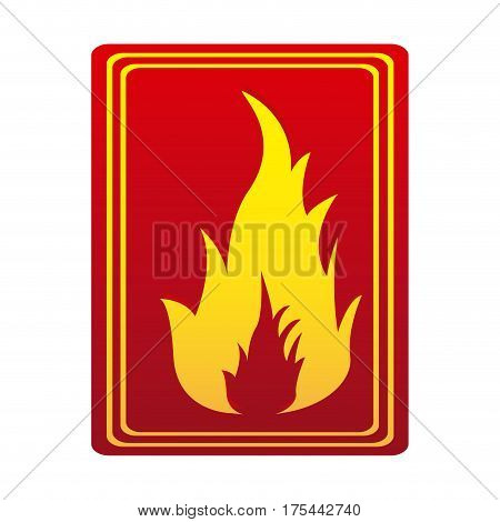 red color signal silhouette fire flame icon vector illustration