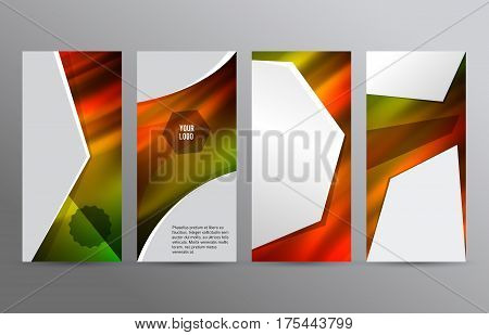 Set Templates Vertical Flyer Layout Hot Glow Effect07