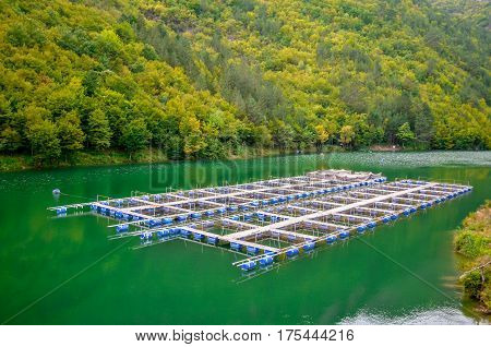 Fish ponds on river Zepa Bosnia and Herzegovina