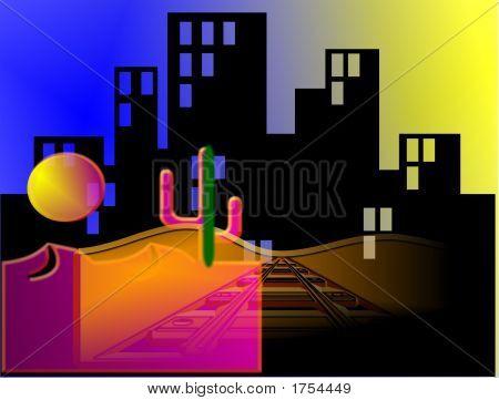 City And Desert