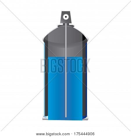 internal view aerosol spray bottle can vector illustration