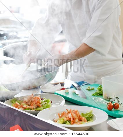 Chef preparing food