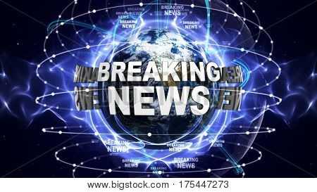 BREAKING NEWS Text Around the World, Computer Graphics